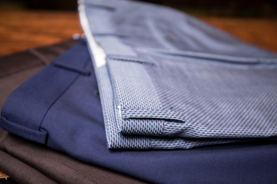 Tailored and Custom - custom pants on the table