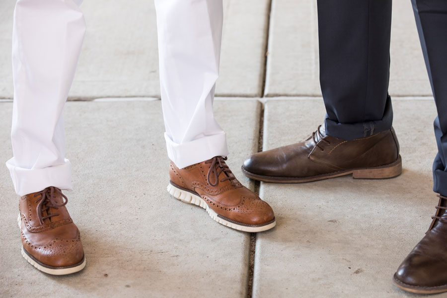 Shoes & Belts - two men wearing shoes